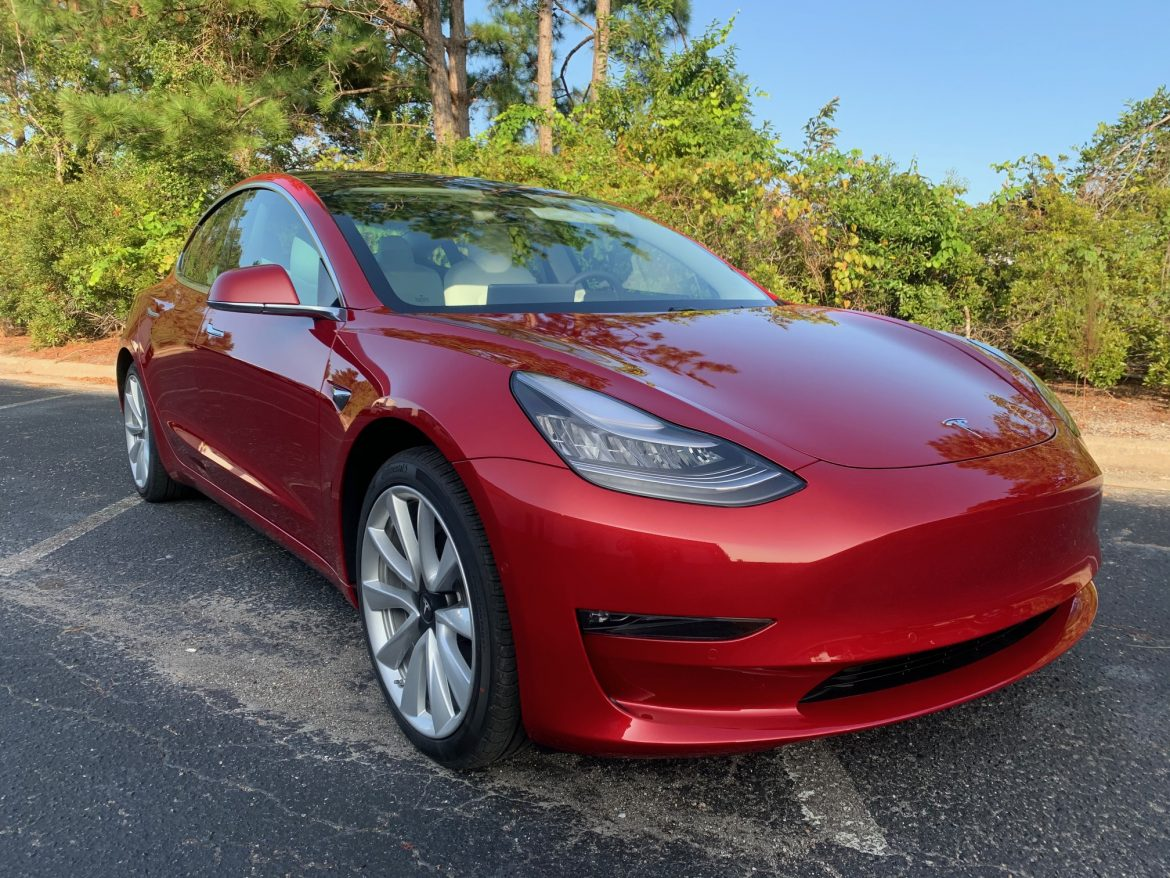 Tesla Protected From Paint Damage Using SunTek Paint Protection Film in Wilmington, North Carolina - Paint Protection Film Services in the Wilmington, North Carolina Area